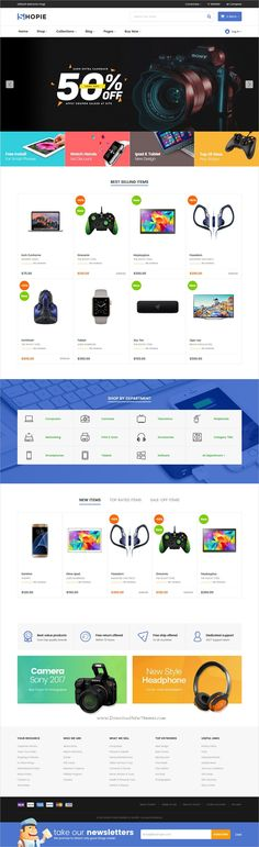 Shopie is stylish and minimal design responsive #Shopify theme for stunning #electronics store #eCommerce website with 27+ multipurpose niche homepage layouts download now..