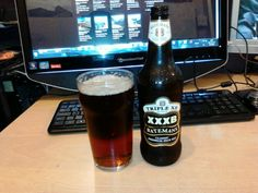 Batemans xxxb, a rather dark pale ale. Brewed in a windmill in Wainfleet near skeggy in Lincolnshire where most of the best locals are Bateman owned pubs.