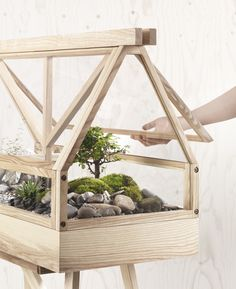imm cologne 2017: design house stockholm plants greenhouse terrarium