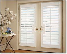 Hunter Douglas Blinds And Shades French Door Shutters For Doors Interior