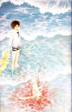 uchida-yoshimi3より。1979年ぶ~けカレンダー7月8月。 Manga Art, Manga Anime, Character Design Inspiration, Magical Girl, Love Art, Great Artists, Animation, Painting, Mermaids