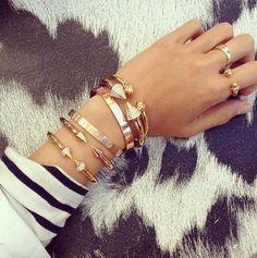 #armswag #armcandy #bracelets #layeredbracelets #rings #arms #fashion #accessories #girly #beautiful #diybracelets