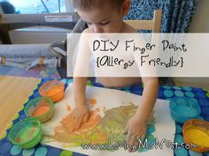 Edible Finger Paints {Allergy Friendly!}