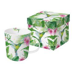 Tropical Hummingbird Trend Mug #tropcial #hummingbird #bird #vogel #summer #sommer #trendmug #mug #tasse #flower #blume #leaves #blätter #ppd #paperproductsdesign