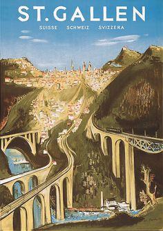St. Gallen. 1939. Plakat von Willi Koch.
