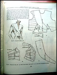 Robe design: drapage et Flat Pattern Making, par Marion Hillhouse et Evelyn… Bodice Pattern, Collar Pattern, Pattern Cutting, Pattern Making, Vintage Patterns, Vintage Sewing, Sewing Hacks, Sewing Projects, Clothing Patterns