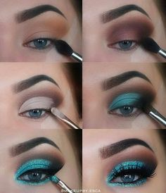 The Ultimate Full-Face Drugstore Makeup Guide For Beauty Addicts - Schminke - Eye Make up Natural Eyes, Natural Eye Makeup, Blue Eye Makeup, Blue Makeup Looks, Sleek Makeup, Asian Makeup, Korean Makeup, Natural Beauty, Makeup Goals