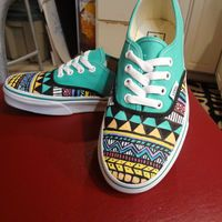Aztec/Tribal Shoes (MADE TO ORDER)