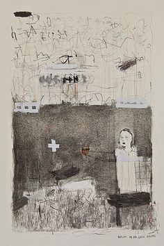 Josias Scharf - Love letters 5 (series), ink,tape, charcoal, graphite on paper  berlin 2012