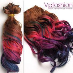 le extension dei capelli colorati 2014