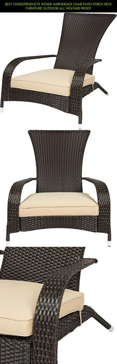 Best ChoiceProducts Wicker Adirondack Chair Patio Porch Deck Furniture  Outdoor All Weather Proof #plans #