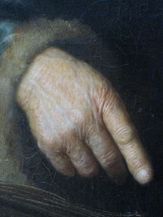 [hand detail] Rembrandt.  However a very interesting story concerning attribution of this painting here http://artemisdreaming.tumblr.com/post/23924321196/hand-detail-rembrandt-large-image-here