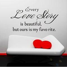 elke liefdesverhaal is mooi muur stickers zooyoo8145 woonkamer verwijderbare vinyl muurstickers woondecoratie – EUR € 4.89