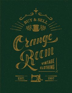 ORANGE ROOM - logo design by Nana Nozaki, via Behance