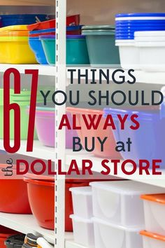 Dollar Store Organization Ideas and Hacks - The dollar store can save you big bucks if you know what to buy! Check out these 67 items you should always buy at the dollar store. Dollar Store Hacks, Dollar Tree Store, Dollar Stores, Dollar Dollar, Dollar Store Decorating, Thrift Stores, Dollar Items, Diy Decorating, Neutral Decorating