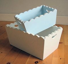 Scalloped Boxes for cute storage