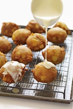 Apple Fritters with Calvados Glaze