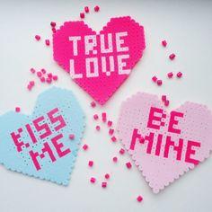 Hearts - Valentines Day perler beads by feyaisshalfeya