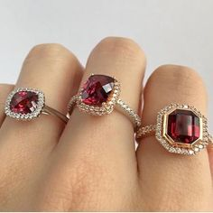 A new month means a new birthstone. For the entire month of January take off garnet jewellery. Garnet Jewelry, Birthstones, Heart Ring, January, Jewels, Jewellery, Photo And Video, Rings, Color