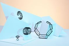 3D Printed Emerald Cut Diamond Shaped Necklace  MYBF by Maison203, €98.00