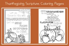 Thanksgiving Coloring Pages - His Dearly Loved Daughter Ministries