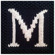 PDF Knitting pattern capital letter M afghan / by FionaKelly