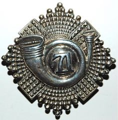 71st of FOOT - HLI SILVER H/M PIPERS BADGE Bonnet Cap, Army Hat, British Army, Armed Forces, Badges, Scotland, Military, Buttons, Plates