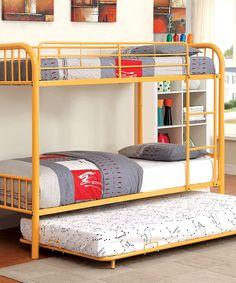 Look at this Orange Benjie Twin Bunk Bed on #zulily today!