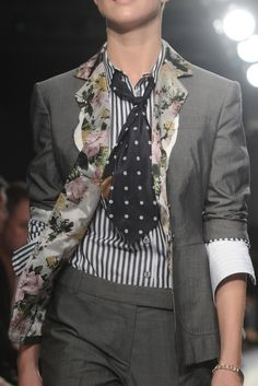 love this: structured menswear inspired with feminine florals