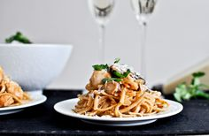 Brown Butter Parmesan Chicken Linguine @ How Sweet It Is
