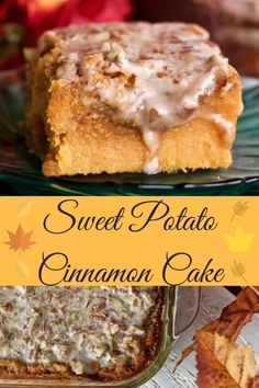 This moist, rich, sweet potato cinnamon cake is a delicious dessert. This holiday favorite is chock full of fibrous, good for you sweet potatoes and healthy coconut oil. Cinnamon adds a perky spice to compliment the nutty glaze and brown sugar topping. Homemade Desserts, Best Dessert Recipes, Delicious Desserts, Yummy Food, Cake Recipes, Baking Recipes, Sweet Potato Dessert, Sweet Potato Recipes, Brownies