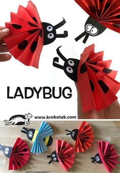 Diy Paper Toys For KidsDiy Paper Toys For Kids Superb Paper DIY ideas for your ChildensPaper roll apple core craft - Diyprojectgardens. Preschool Crafts, Diy Crafts For Kids, Easter Crafts, Art For Kids, Arts And Crafts, Fox Crafts, Ladybug Crafts, Animal Crafts, Origami Ladybug