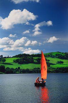 Sailing on Bala Lake, N.Wales