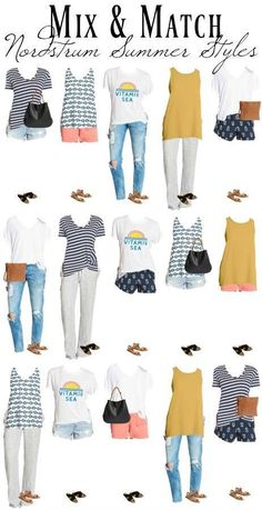 Looking for a comfy and fun summer style? Try this Mix & Match Nordstrom Womens Summer Styles