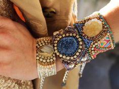 Crystal Friendship Bracelet Druzy Agate Cuff by JewelryLanChe