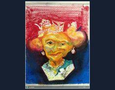 HBD..Queen Elizabeth II #Creative #Art #Painting @touchtalent.com