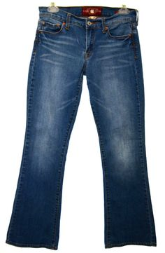 LUCKY BRAND Womens 4 27 Ankle Medium Wash Sofia Boot Cut Stretch Denim Jeans  #LuckyBrand #BootCut