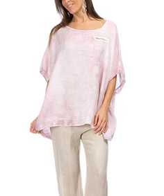 Love this Pink Anastacia Linen Top on #zulily! #zulilyfinds