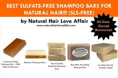 """5 Of The Best Sulfate-Free Shampoo Bars for Natural Hair ..."""""""