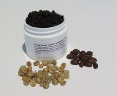 Facial Scrub Coffee and Brown Sugar by lovemyskinsoaps on Etsy, $5.50