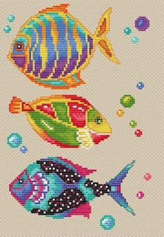 Thrilling Designing Your Own Cross Stitch Embroidery Patterns Ideas. Exhilarating Designing Your Own Cross Stitch Embroidery Patterns Ideas. Cross Stitch Sea, Cross Stitch Fruit, Beaded Cross Stitch, Cross Stitch Animals, Cross Stitch Embroidery, Embroidery Patterns, Fish Patterns, Bead Loom Patterns, Cross Stitch Designs