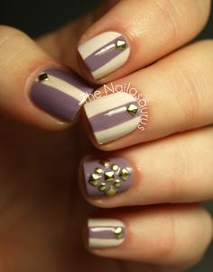 Pretty studded mani from The Nailasaurus