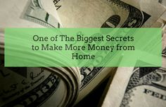 One of the biggest secrets to ake more #money? Here it is:  http://brandonline.michaelkidzinski.ws/one-of-the-biggest-secrets-to-make-more-money-from-home/