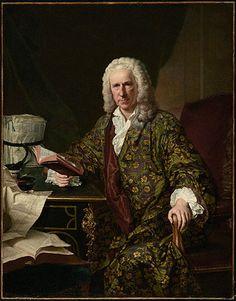 Portrait of Marc de Villiers, Secretaire du roi to Louis XV  Jacques-André-Joseph Aved  French, 1747
