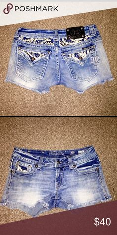 Miss Me Blingy Jean Shorts Gorgeous Miss Me Blinged Out Women's Denim Shorts in size 27. Style#:JE6063H5. In great condition haven't worn since last year, that's why I'm selling them. Everything is in tact no rhinestones or studs are missing. Miss Me Shorts Jean Shorts
