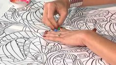 Quilt Show Tutorials: Fabric Painting with Inktense Pencils. Fabric medium first on fabric to stop the Inktense bleeding.