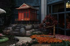 Bellagio's Conservatory & Botanical Gardens Celebrates Japan – Travelivery® Bellagio Conservatory, Tall Lanterns, Las Vegas Attractions, Christmas Soldiers, Stone Lantern, Osaka Castle, Year Of The Pig, Italy Tours, Colorful Plants