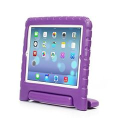 iPad Case, iPad Air 2 Case, iPad 6 Case, ACEGUARDER Light Weight Shockproof Kids Friendly Handle Cases Cover with Stand (Purple, iPad 6 (Air 2) *** Check out the image by visiting the link.