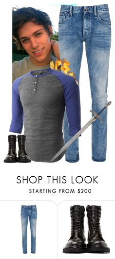 """Open RP//Was helping in the Hephaestus Cabin//Ben//CHB"" by the-l0st-girl ❤ liked on Polyvore featuring Denham, LE3NO, Yves Saint Laurent, men's fashion, menswear and TheDJsBexandBen"