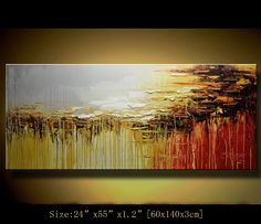 Original Abstract Painting, Modern Landscape Painting ,Palette Knife, Home Decor, Textured Painting on Canvas  by Chen c083. $248.00, via Etsy.